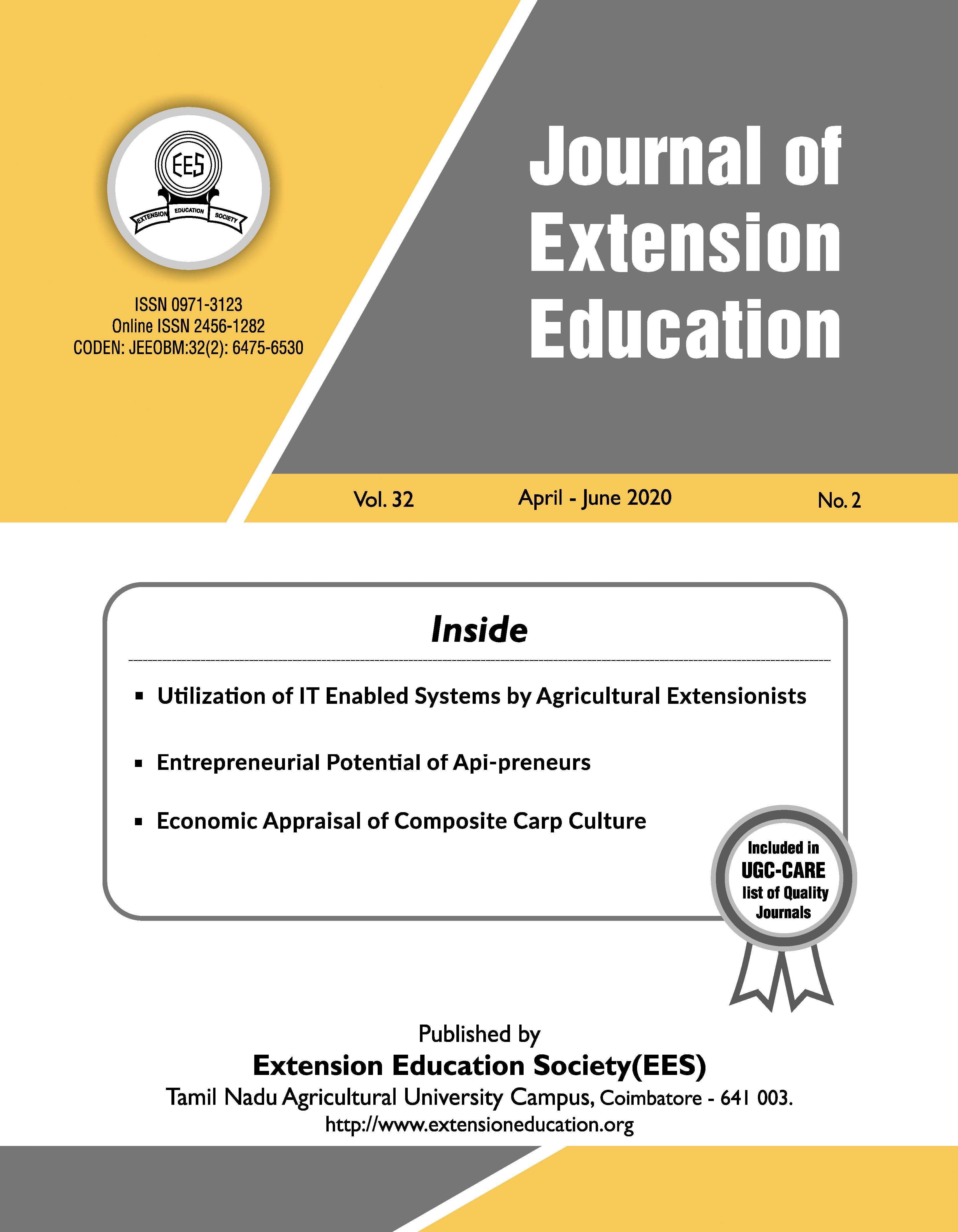 View Vol. 32 No. 2 (2020): Journal of Extension Education